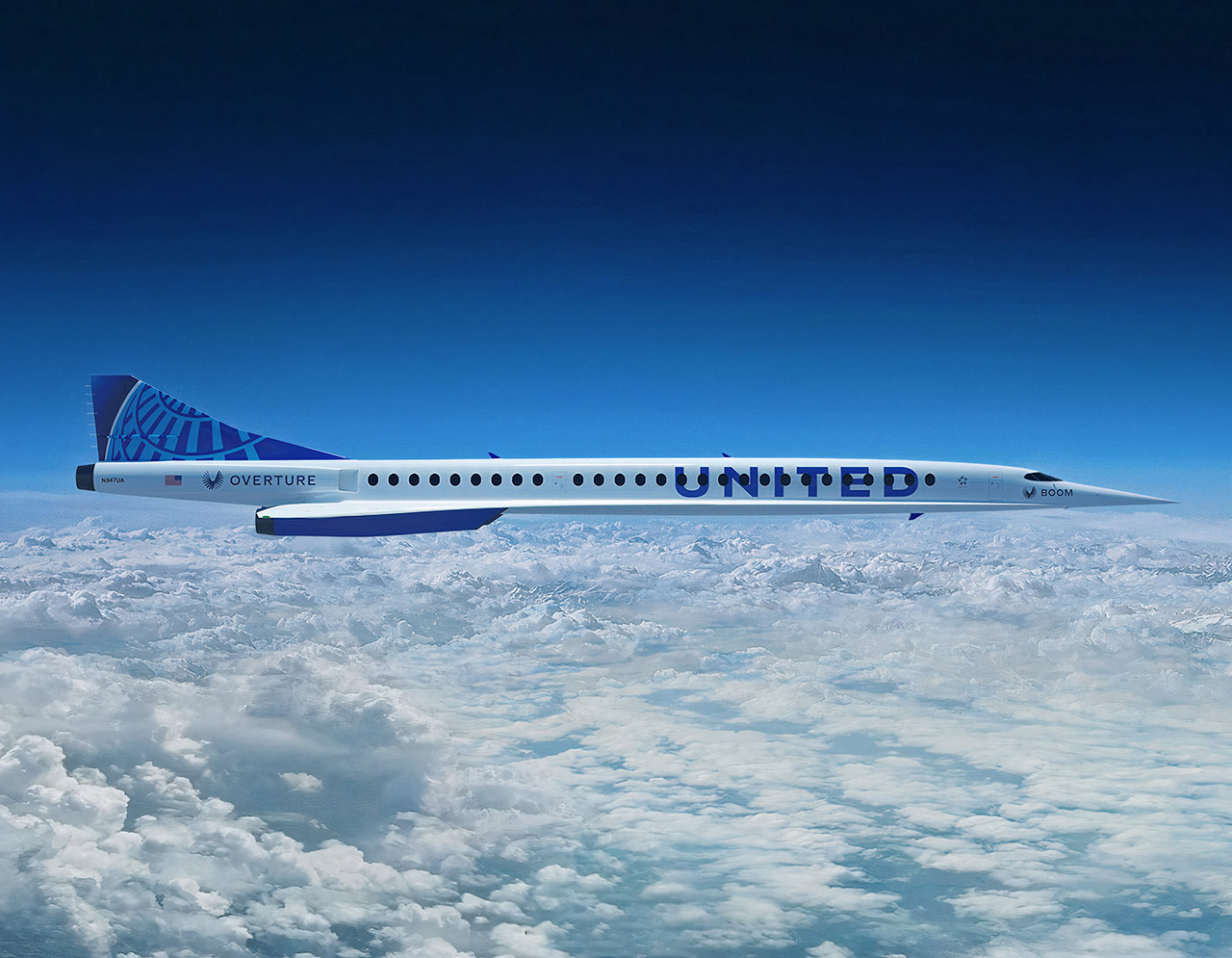 United Airlines Boom Supersonic Aircraft