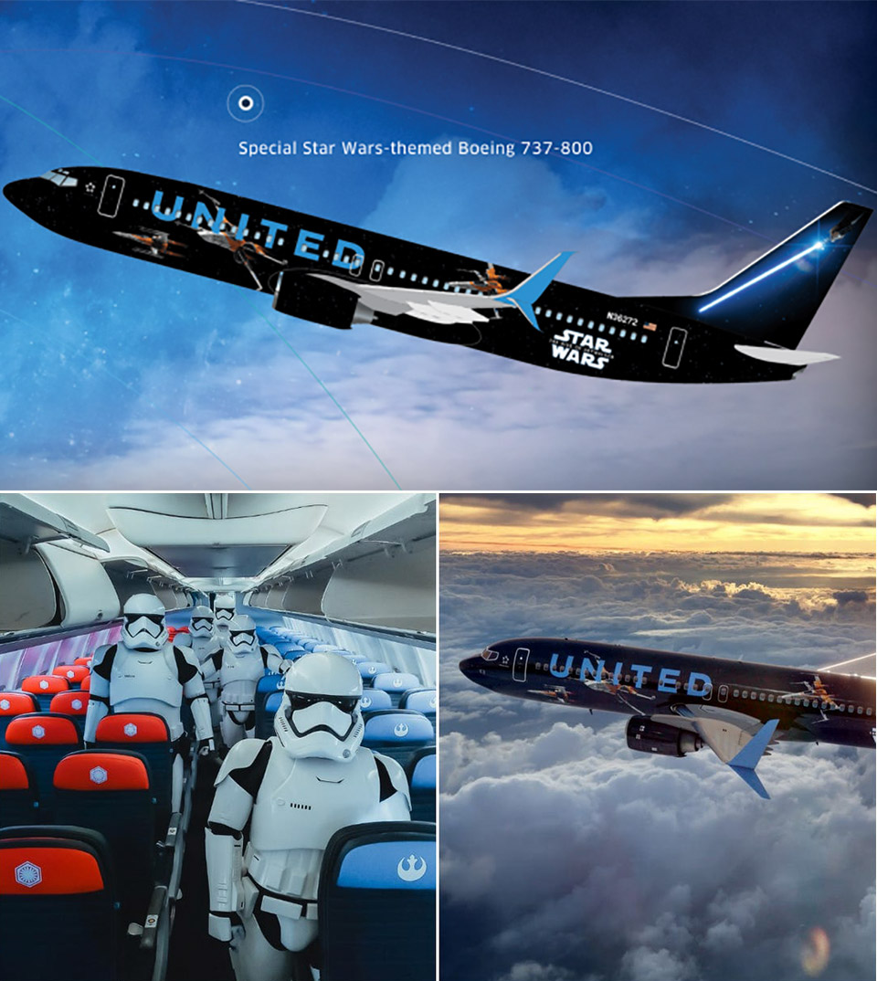 United Airlines Star Wars Boeing 737