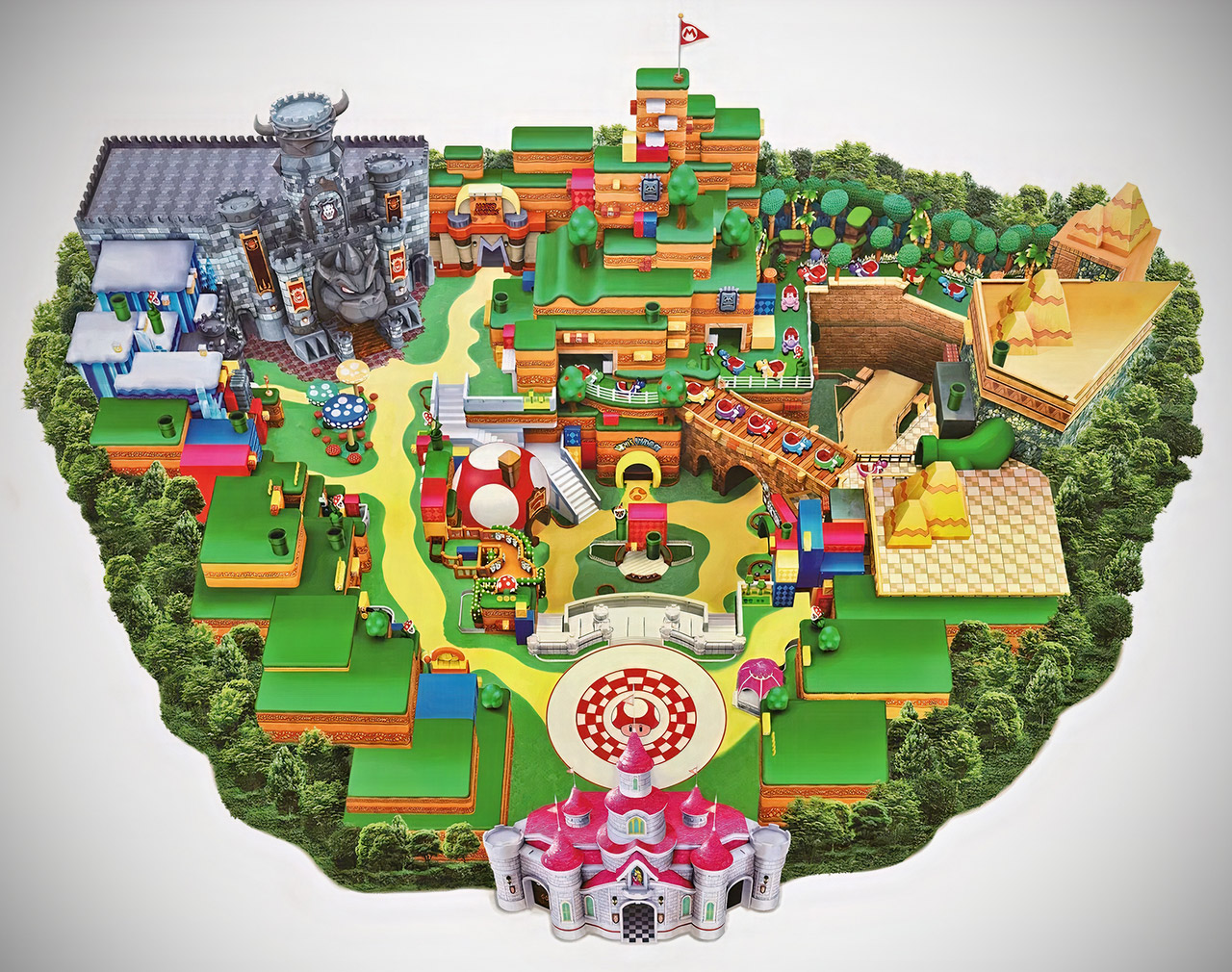 Universal Studios Japan Super Nintendo World Map