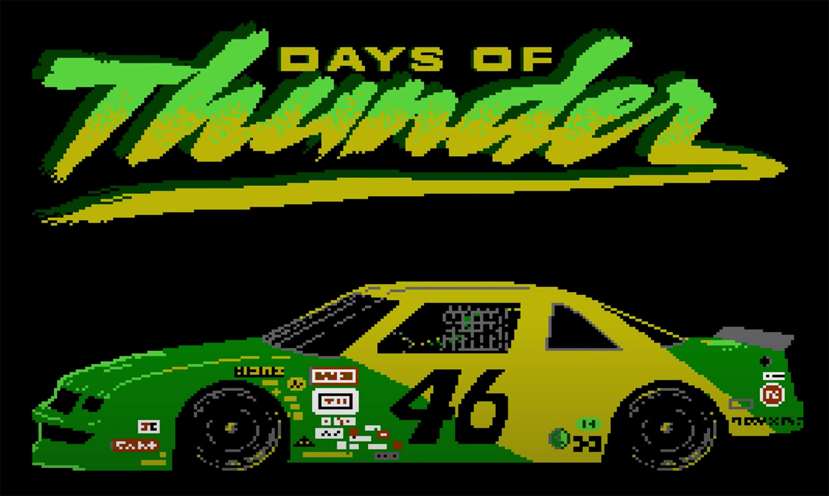 Unreleased Days of Thunder NES Video Game