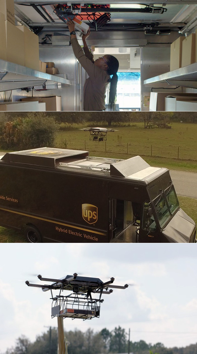 UPS Delivery Drone Built Into The Truck And 18 More Interesting