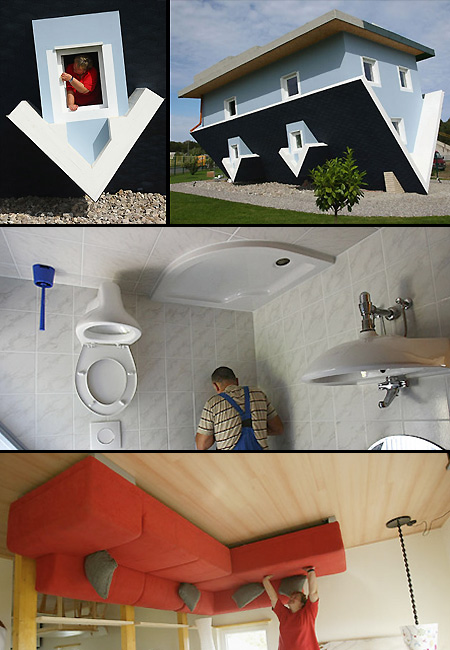 A Real Upside Down House