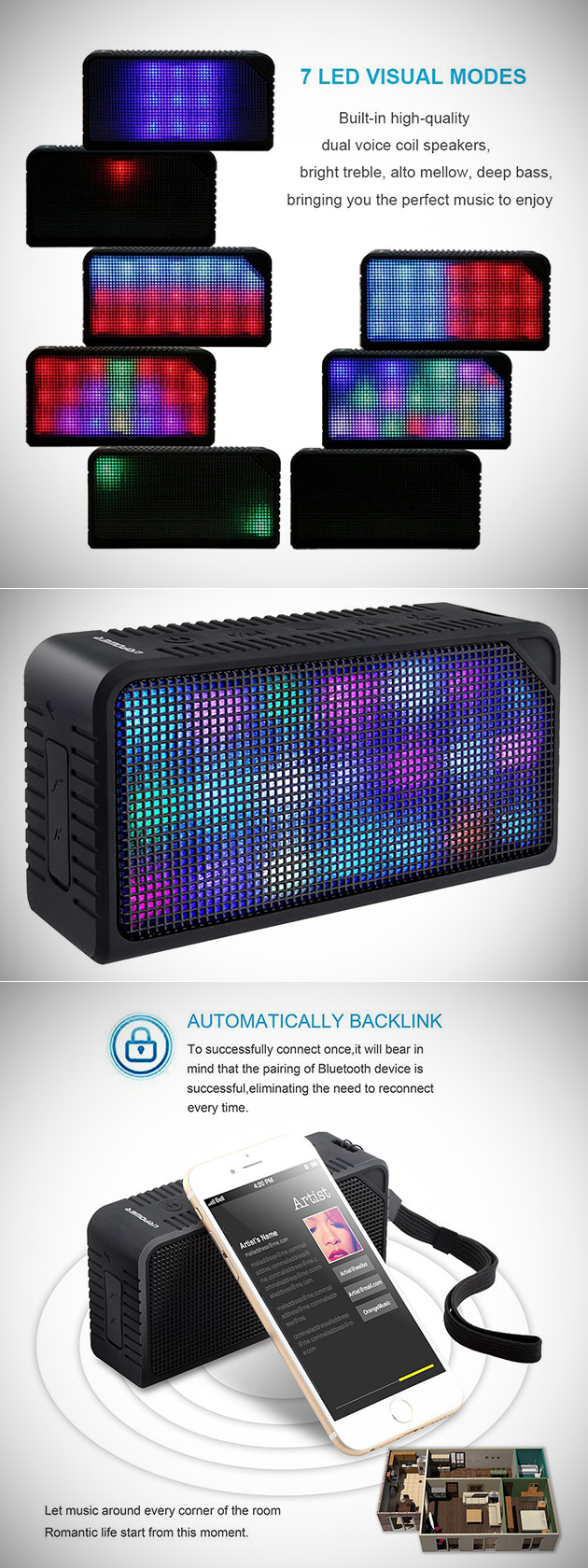 URPOWER LED Speaker