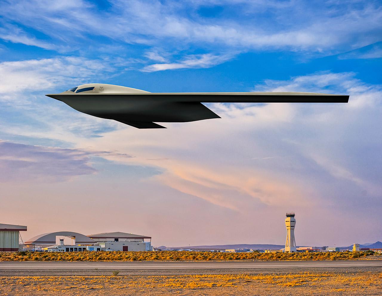 US Air Force B-21 Raider Stealth Bomber