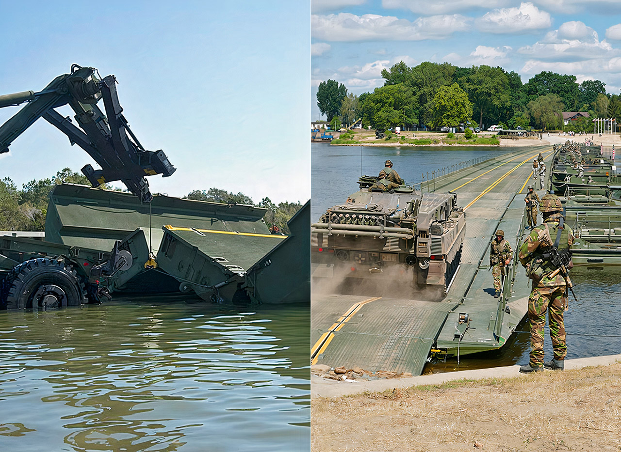 US Army Engineers Improved Ribbon Bridge Water