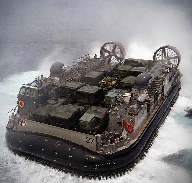 US Navy LCAC Hovercraft