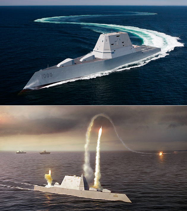 USS Zumwalt Destroyer