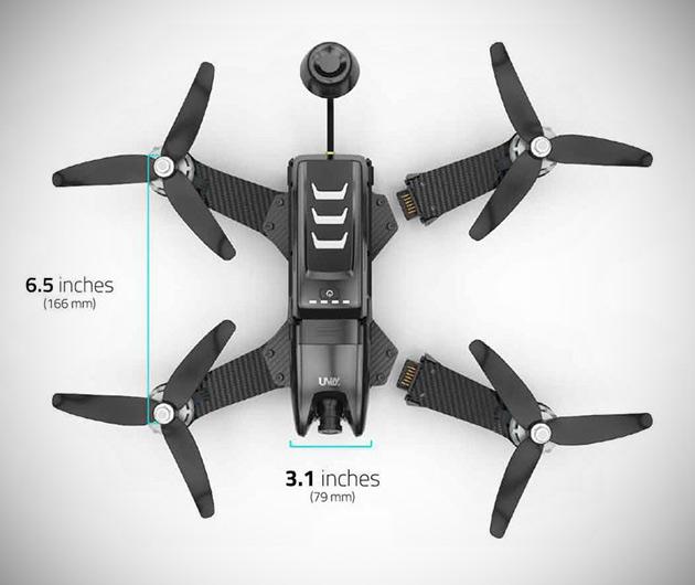 UVify Draco é um 100 MPH de Fibra de Carbono Racing Drone, Que Pode Executar 360 Graus Sacode