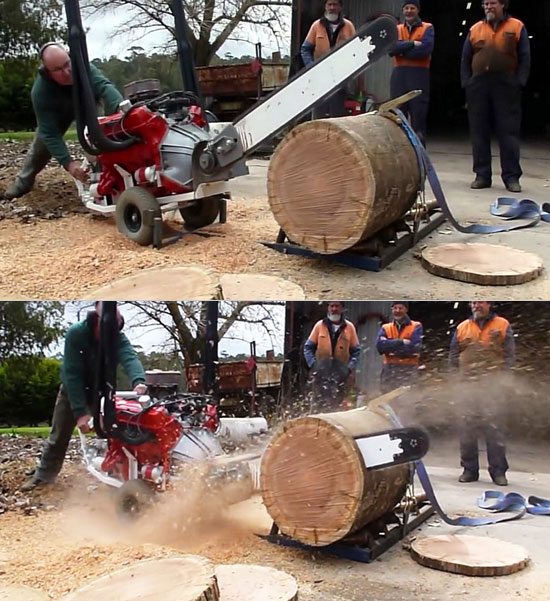 V8-Powered Saw Chainsaw
