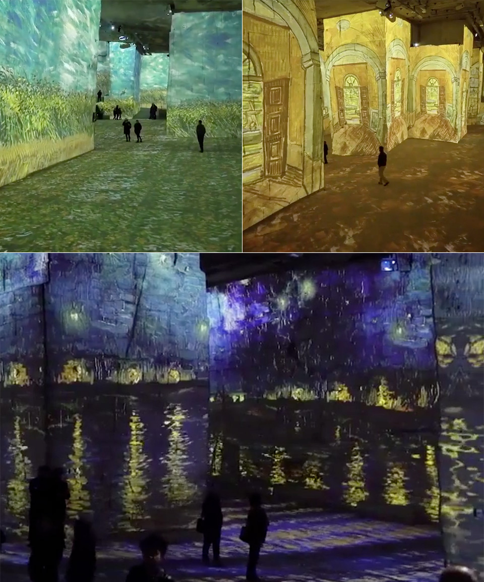 Van Gogh Exhibit Amsterdam Light Festival