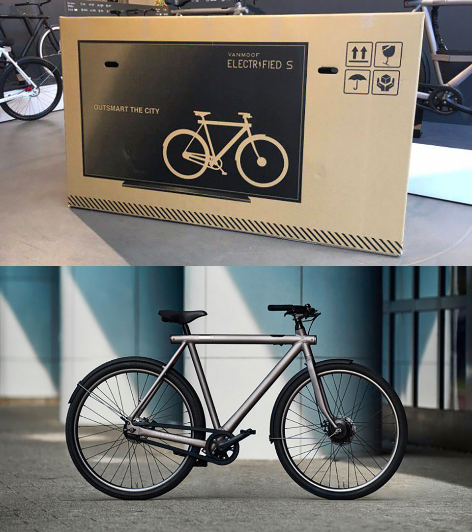 Vanmoof Fake TV Bike Packaging