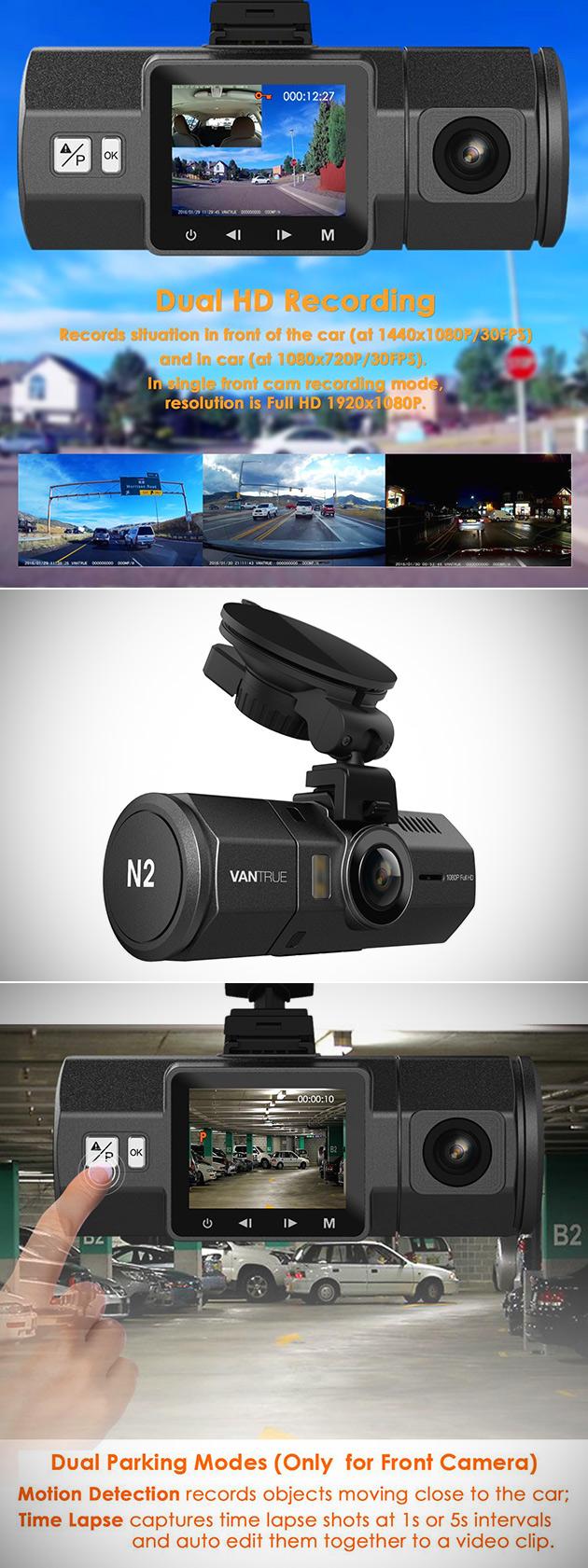 Vantrue N2 Dual Dash Cam