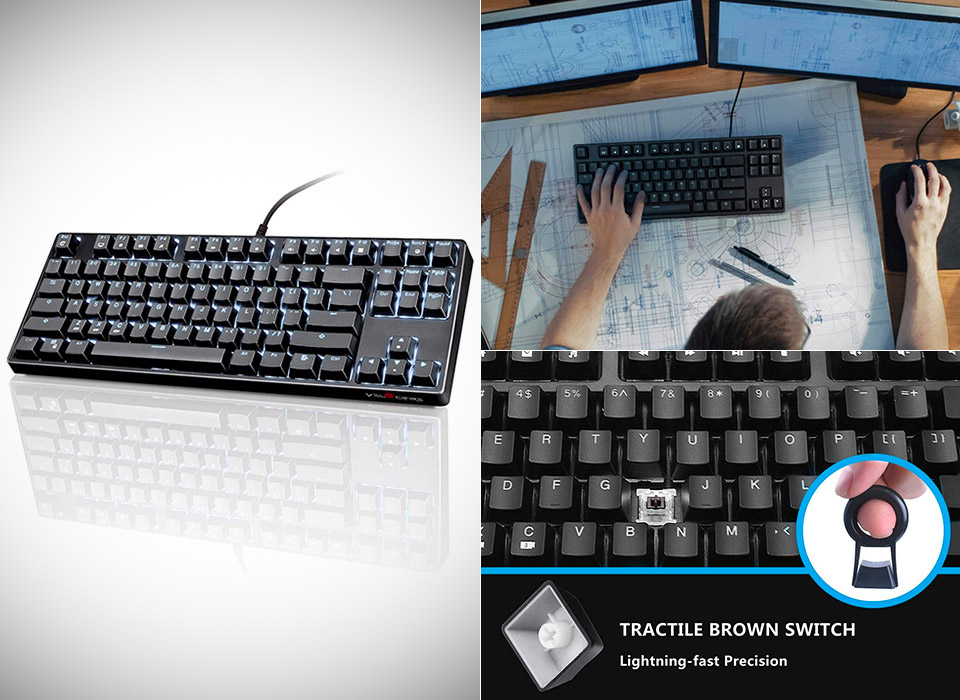 VELOCIFIRE TKL02 Mechanicel Keyboard Tenkeyless