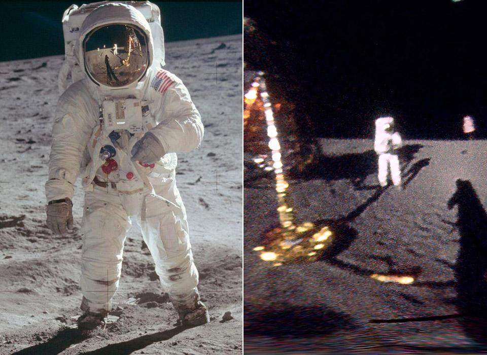 VFX Artist Unwraps Neil Armstrong Apollo 11 Moon Photo