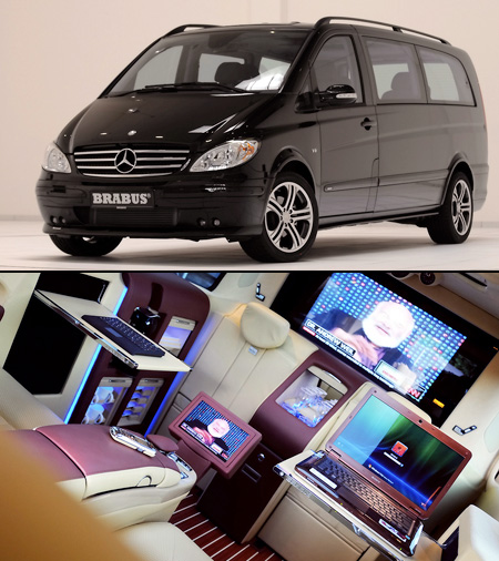 Brabus Mercedes Benz Viano Lounge Is A Geek S Paradise