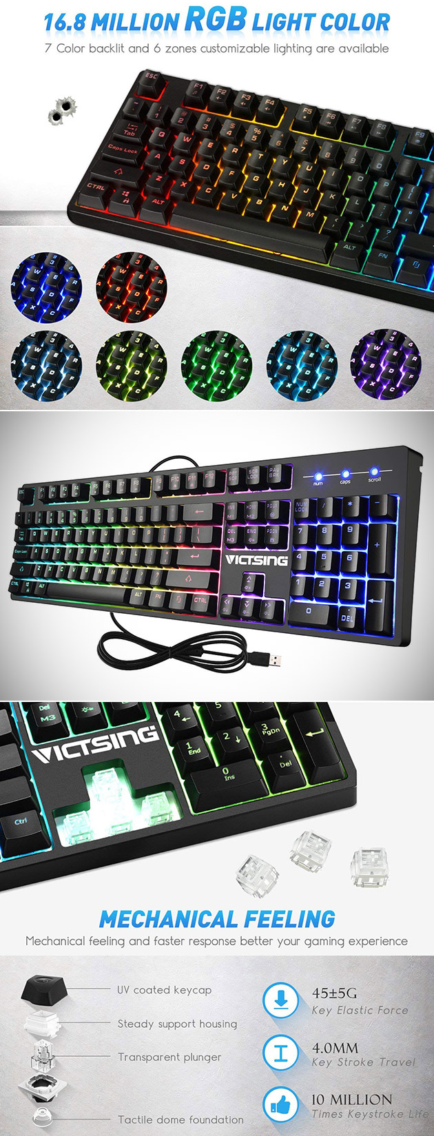 VicTsing RGB Keyboard