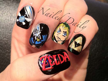 20 Ultra Geeky Examples Of Video Game Nail Art Techeblog