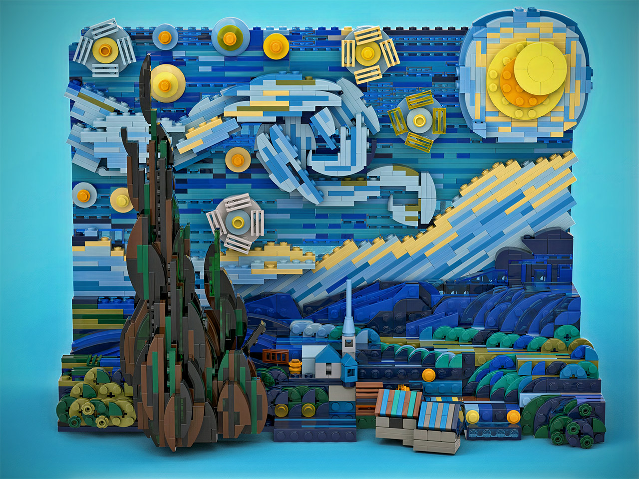 Vincent van Gogh Starry Night LEGO Ideas Set