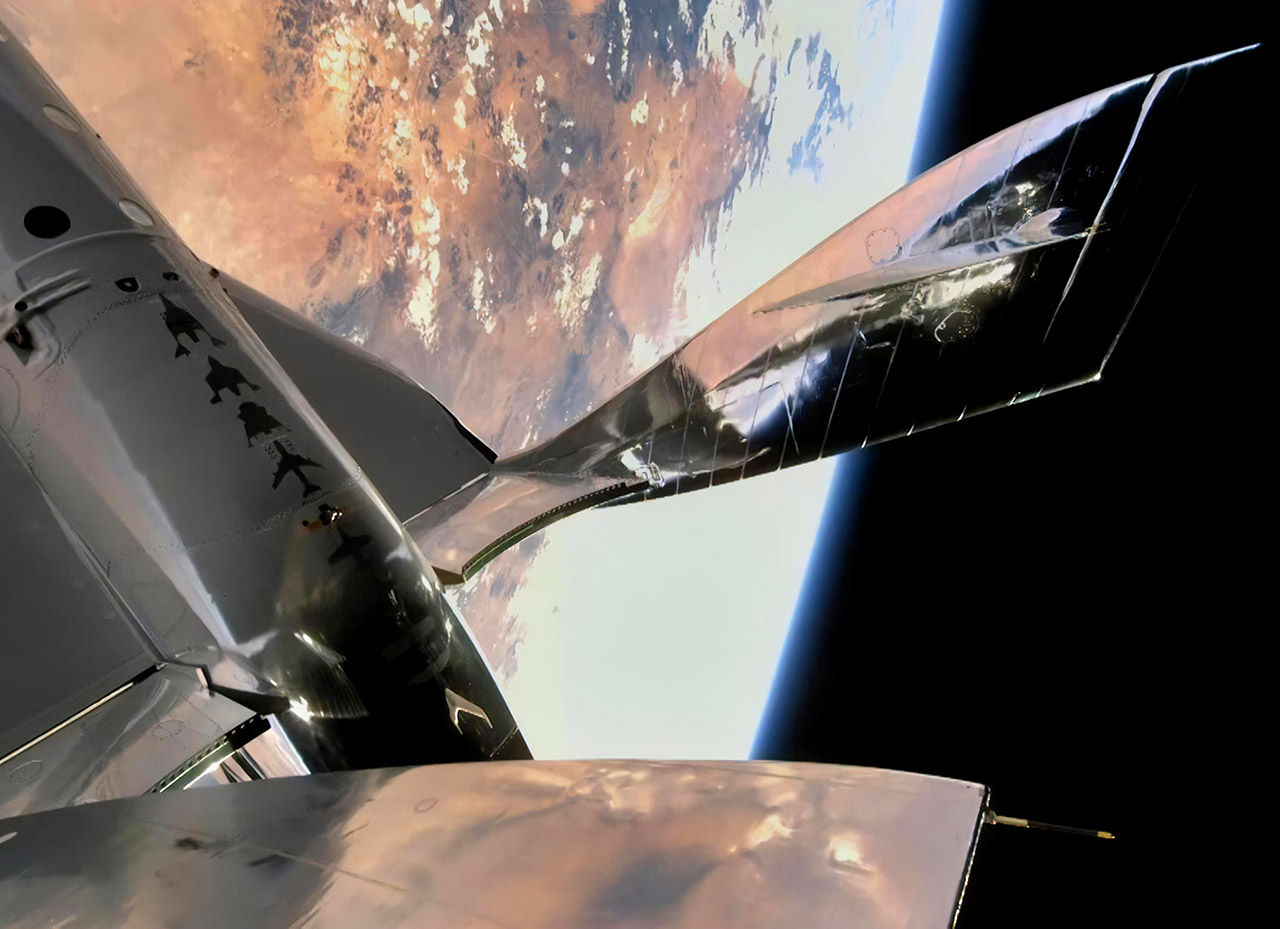 Virgin Galactic First Human Spaceflight VSS Unity