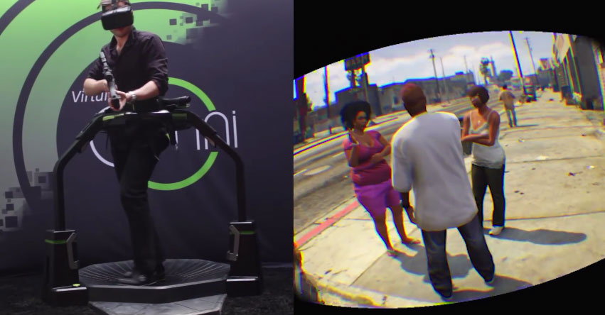 Quand le tapis de course VR Virtuix Omni rencontre Grand Theft Auto V, cela arrive