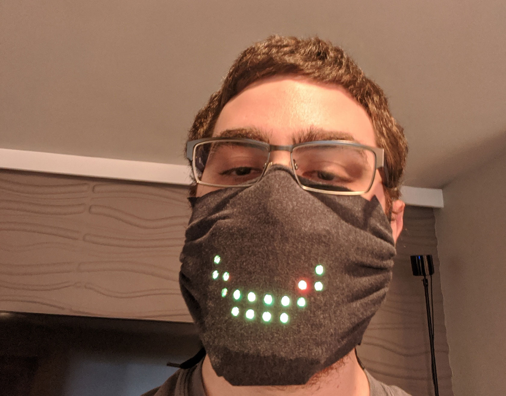 Game Developer Voice Activated Face Mask