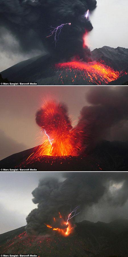 Volcanic Lightning Storm