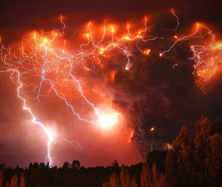 Volcanic Lightning Earth