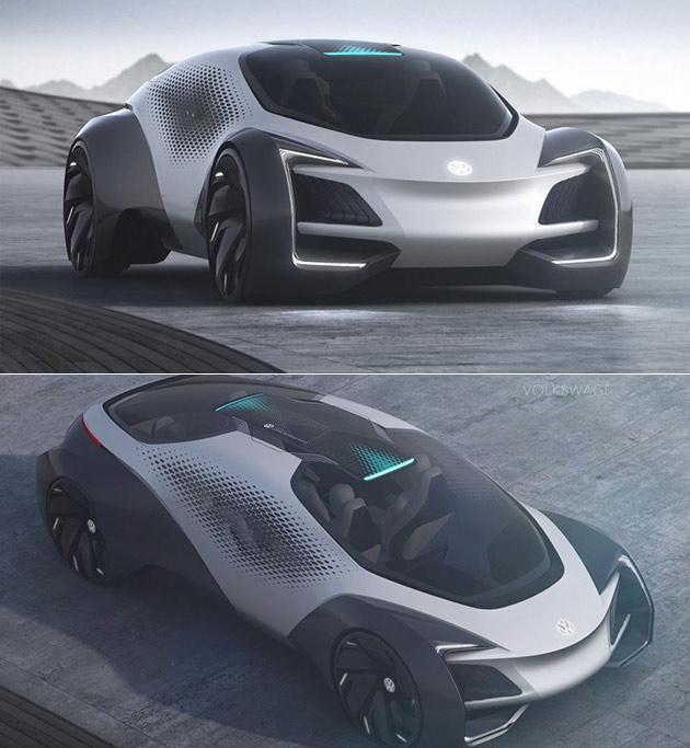 Futuristic Electric Volkswagen Aero-B Concept Is Fully