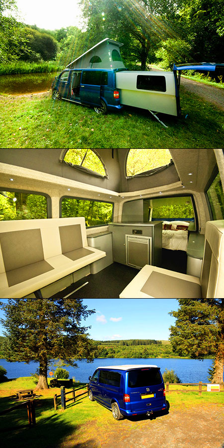 volkswagen t5 doubleback is the ultimate camper van adds sliding pod techeblog. Black Bedroom Furniture Sets. Home Design Ideas