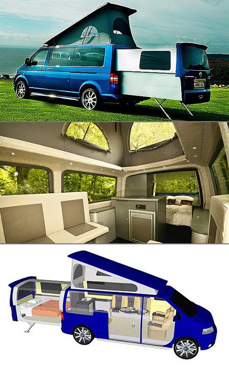 volkswagen transporter doubleback is a luxury camper in disguise techeblog. Black Bedroom Furniture Sets. Home Design Ideas