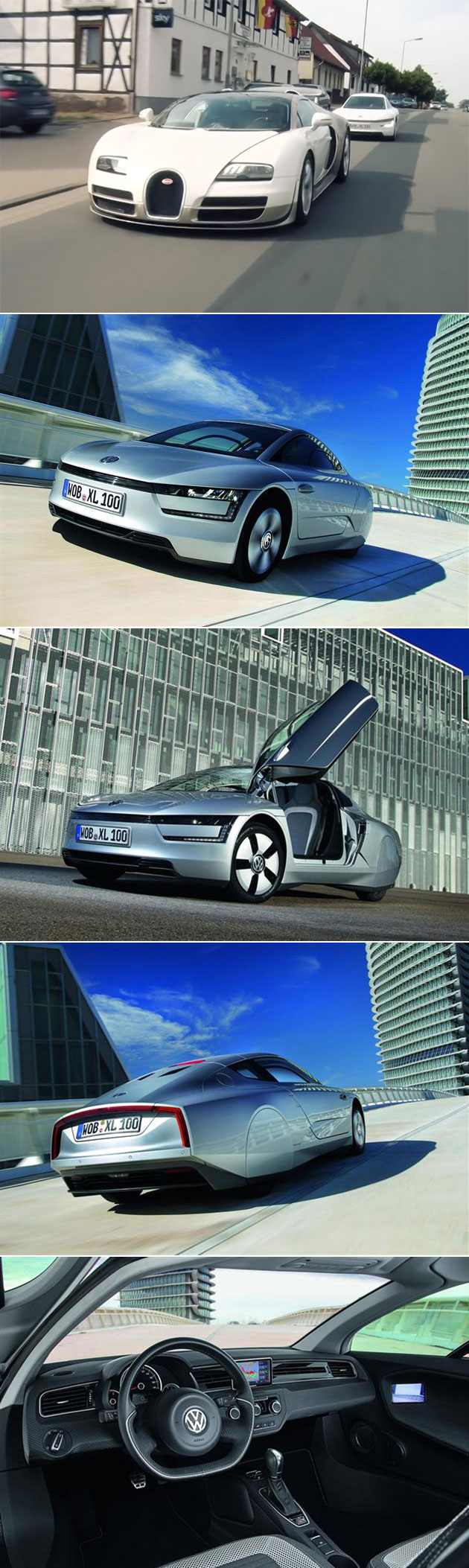 volkswagen xl1 hybrid can achieve 261mpg takes on bugatti veyron in top gear. Black Bedroom Furniture Sets. Home Design Ideas