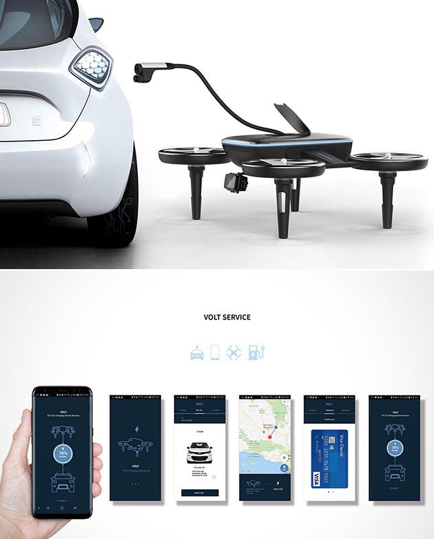 Volt Drone Car Charging