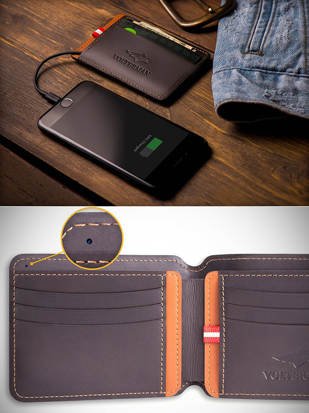 Volterman Smart Wallet A Intégré dans l'Appareil photo Qui Peut prendre une photo de quelqu'un Qui Vole