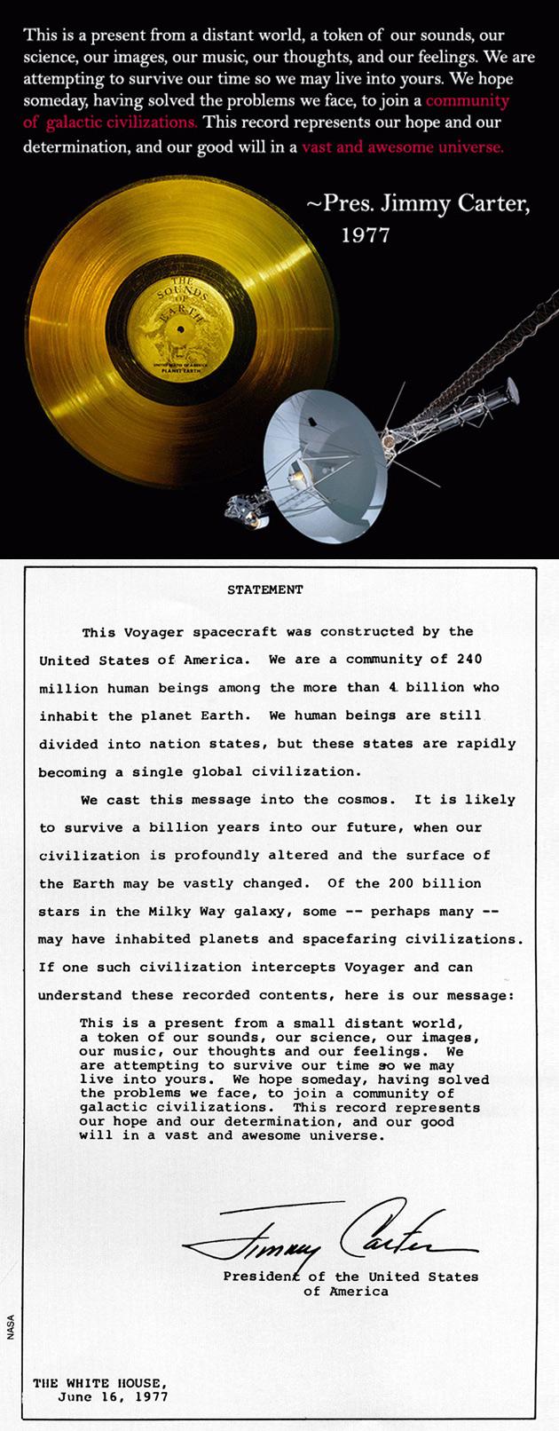 Voyager Spacecraft Message