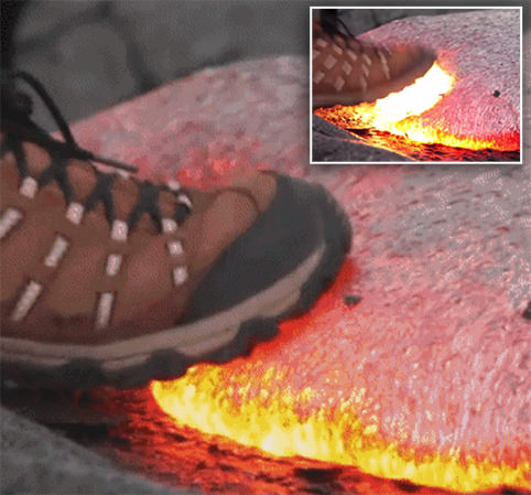 Stepping on Lava