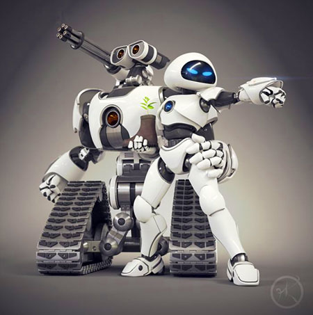 Next-Generation Wall-E and Eve Unveiled - TechEBlog