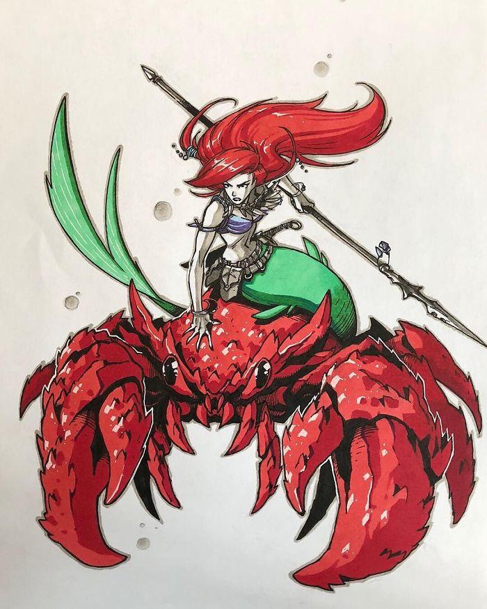 Warrior Ariel Disney