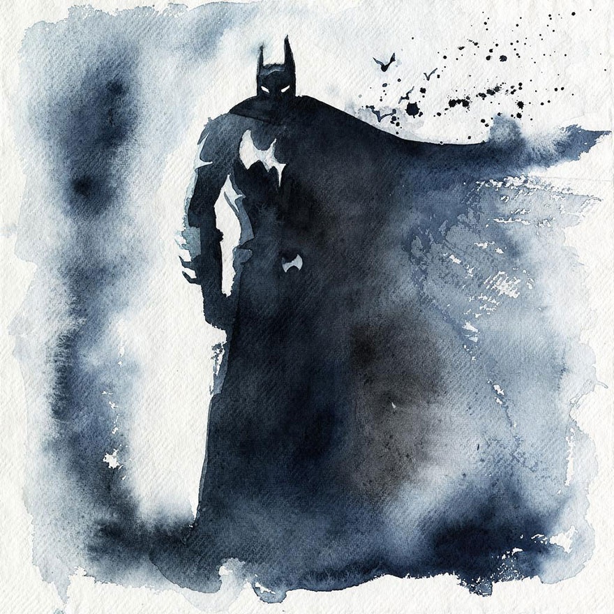Watercolor Superheroes