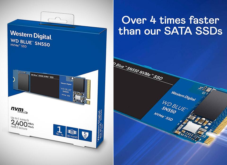 WD 1TB Blue SN550 NVMe SSD