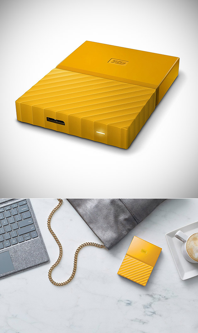Ne pas Verser de $110, Obtenir de WD 2TO Jaune My Passport USB 3.0 Disque Dur Portable pour $64.17 Livré - aujourd'Hui Seulement