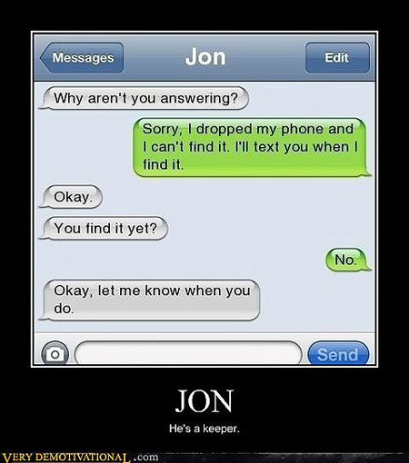 Text message proves some people are too gullible