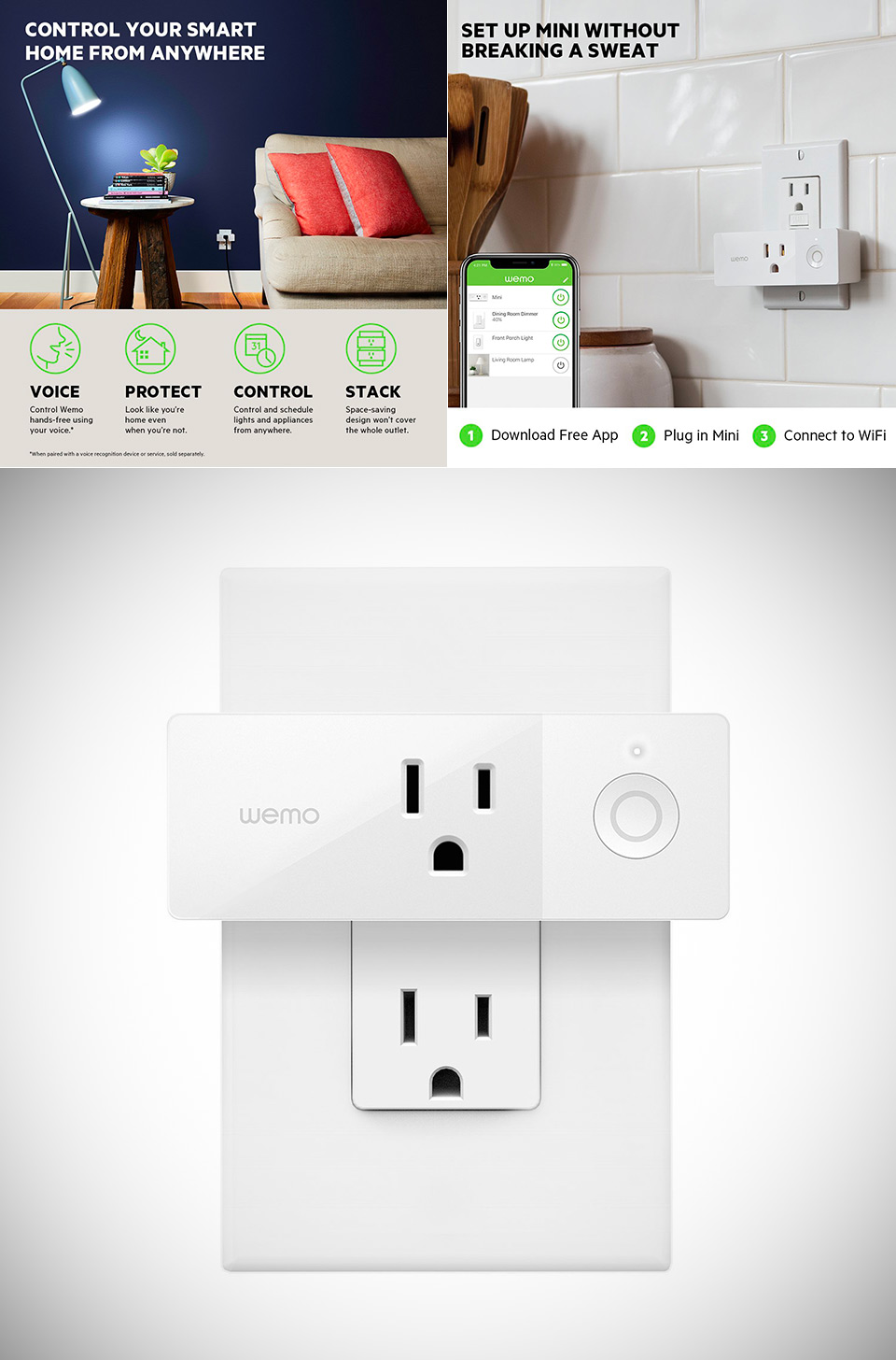Wemo WiFi Mini Smart Plug