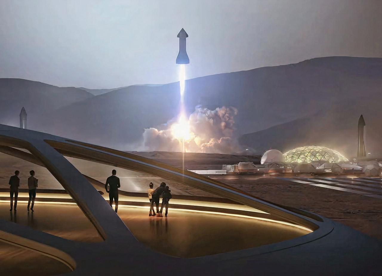 Wernher Von Braun Elon Musk Mars