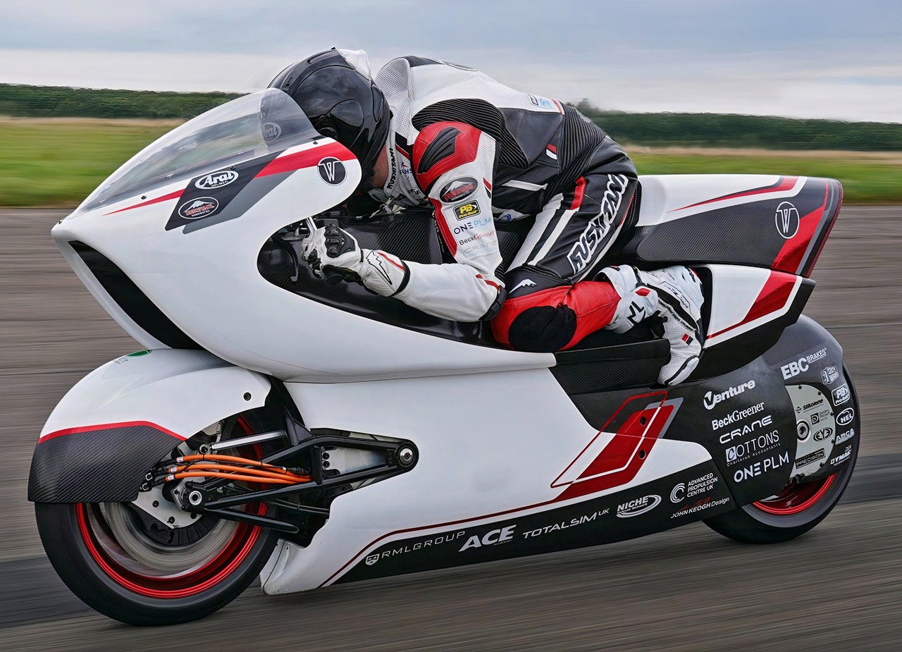 White Motorcycle Concepts WMC250EV Fastest Electric Speed Record