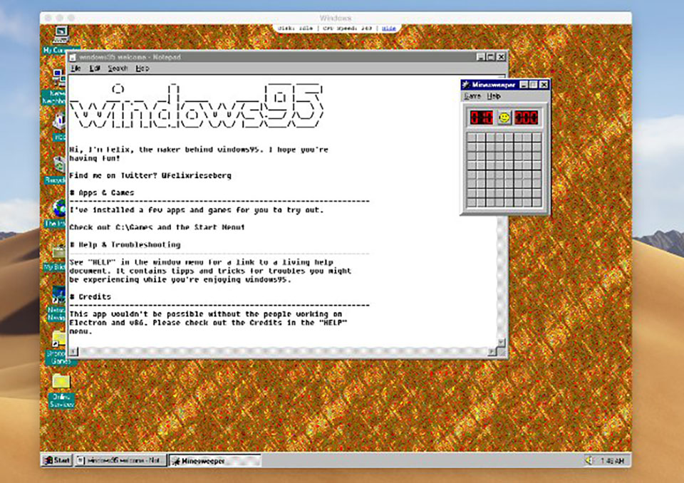 Windows 95 Electron