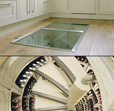 World 39 s coolest wine cellar is hidden beneath kitchen for Wine cellar in floor