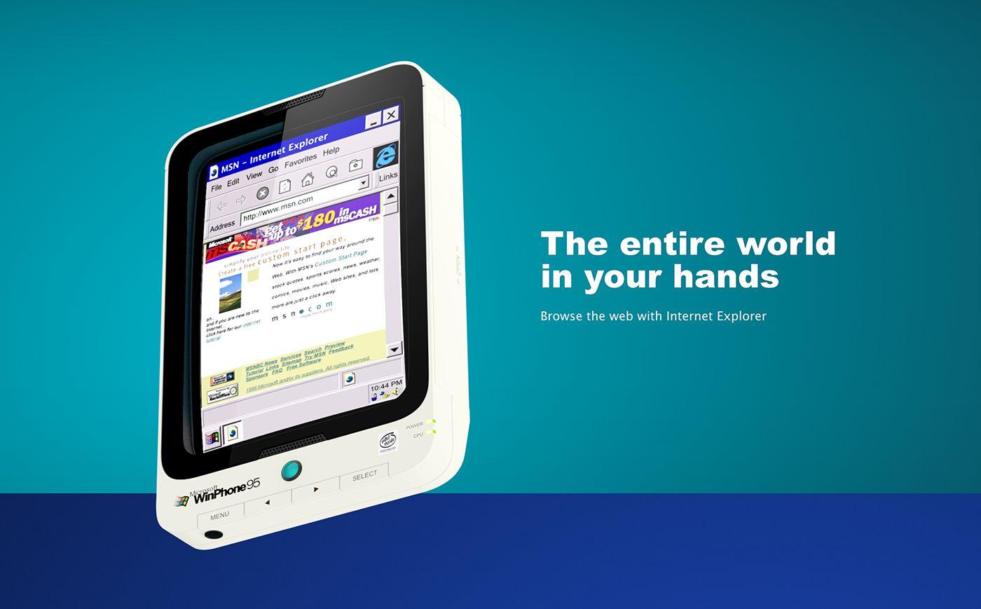 WinPhone 95 Windows 95 Smartphone