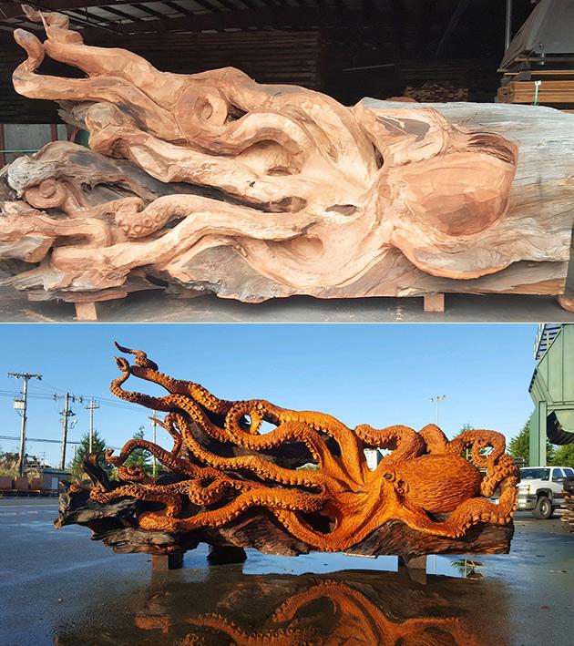 Wooden Giant Octopus