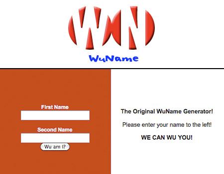 Wu tang clan name generator
