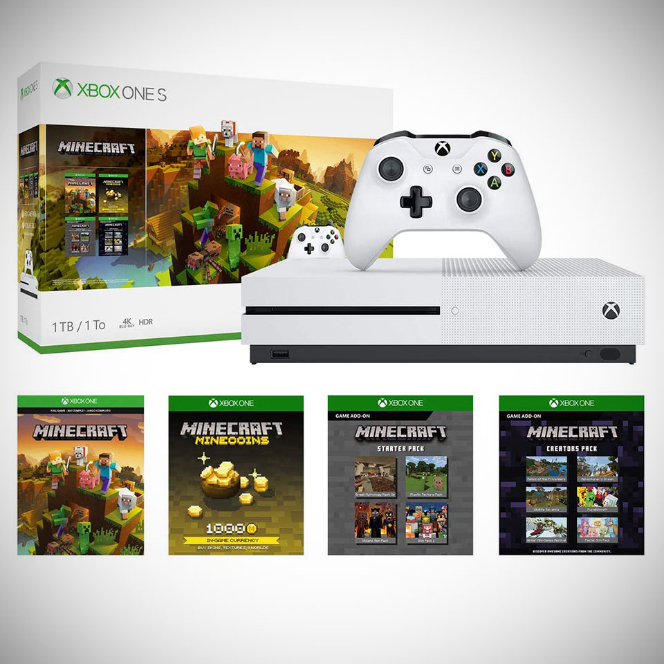 Xbox One S 1TB Minecraft Creators Bundle